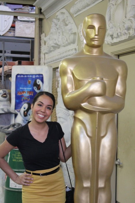 My well-deserved, over-sized Oscar :)