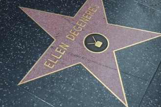 """The famous Hollywood Walk of Fame with stars from all """"walks of fame"""" (pun intended). :)"""