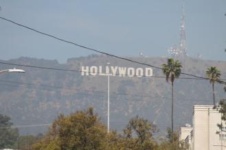 The distinguished Hollywood sign. :) Excuse the excess smog...