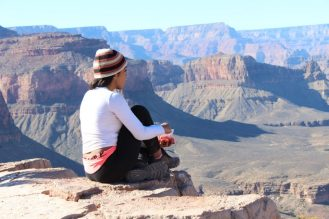 Grand Canyon hike view