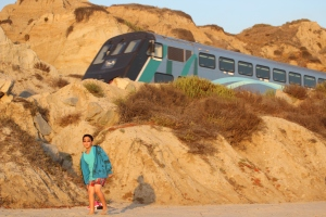 Amtrak Train on the beach