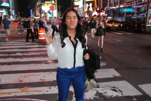 tourist in Times Square, Manhattan, New York City